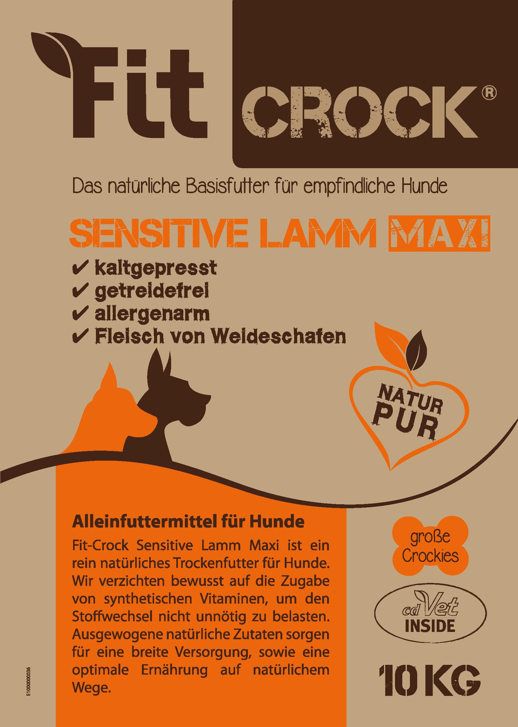 Fit-Crock Sensitive Lamm Maxi 10 kg