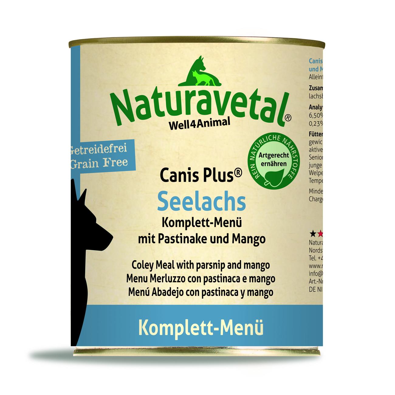 Naturavetal Canis Plus Komplett Menü Seelachs