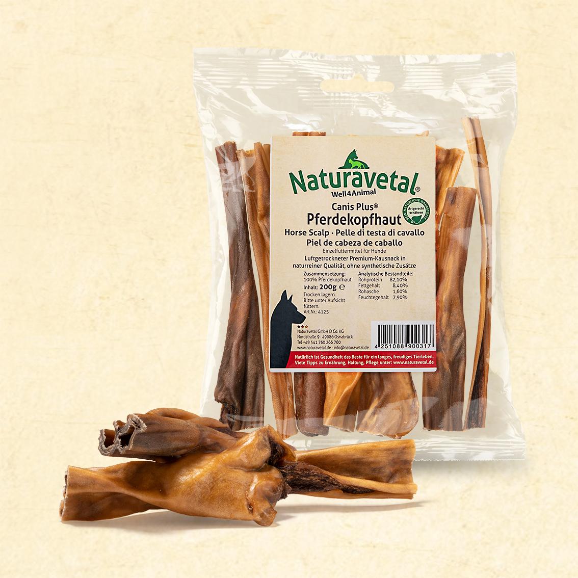 Naturavetal Canis Plus Pferdekopfhaut 10-15cm