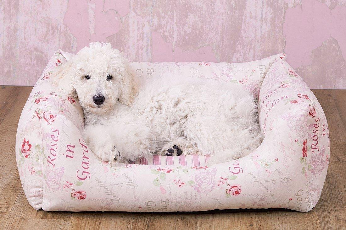 Knuffelwuff Shabby Chic Hundebett Emilia aus Velours