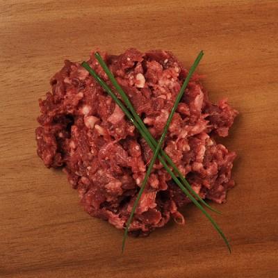 Leckeres Rindfleischherz - gehackt
