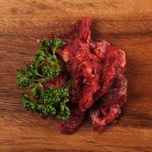 Fein gehacktes Rindfleischmuskelfleisch