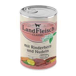 Landfleisch Dog Classic Rinderherz & Nudeln
