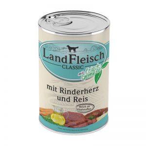 Landfleisch Dog Classic Rinderherz & Reis